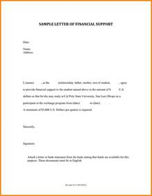 template for letter of support 8 letter of financial support template quote templates