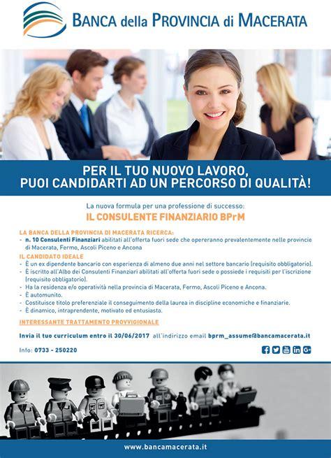 Banca Provincia Di Macerata by Banca Provincia Di Macerata Cerca 10 Consulenti Finanziari