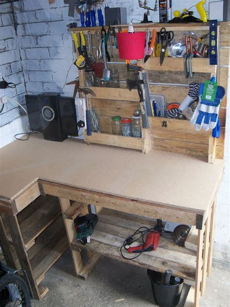 Pallet Rack Workbench by Pallet Workbench Tool Rack Workbenches Pallets And
