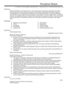 mechanical engineer cv example for engineering livecareer