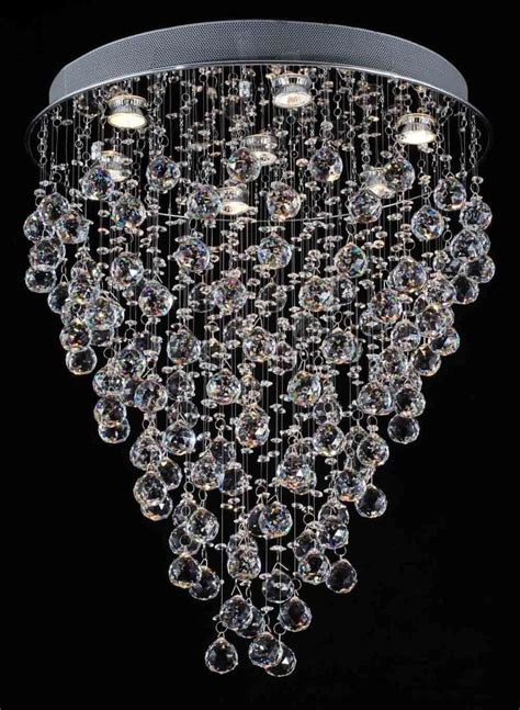 Raindrop Chandelier Modern Contemporary Chandelier Quot Drop Quot Chandeliers Lighting W Balls Ebay
