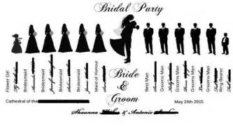 Wedding Program Fan Template Wedding Party Silhouette Ideas Book Or Fan Weddings Do It Yourself Wedding Forums