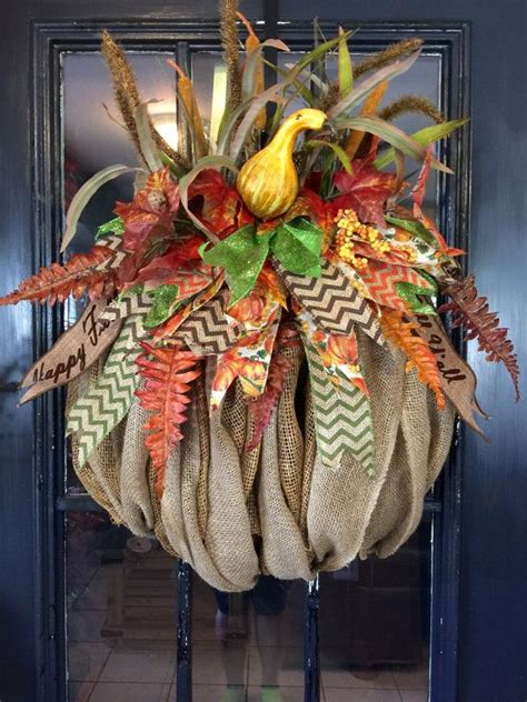 burlap fall decorations 17 best ideas about burlap pumpkins on