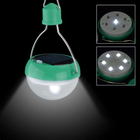 green solar lights portable solar powered cing lantern outdoor 7 led light