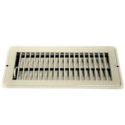 danco      steel floor register    drop  white   home depot