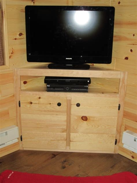 corner tv cabinet built  corner tv stand rustic