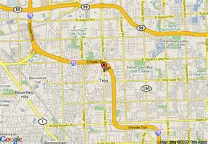 Troy Michigan Map by Map Of Hilton Detroit Troy Troy