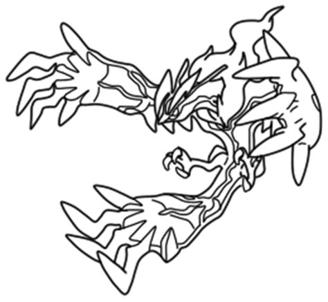 pokemon coloring pages yveltal sketch of yveltal coloring pages