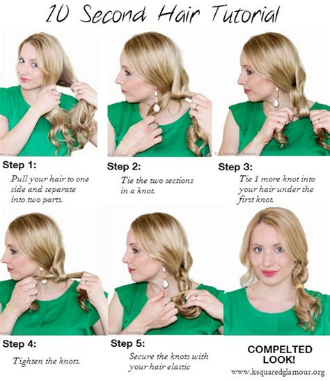 quick easy back to school hairstyles hair tutorial 10 second quick hairstyle tutorial for back to school