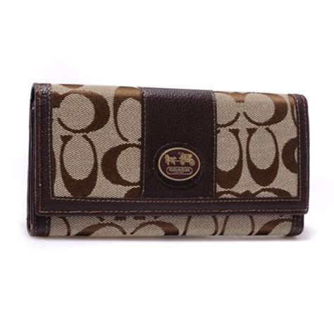 Coach Legacy Signature Cotton Slim Flap by Coach Legacy Slim Envelope In Signature Large Coffee