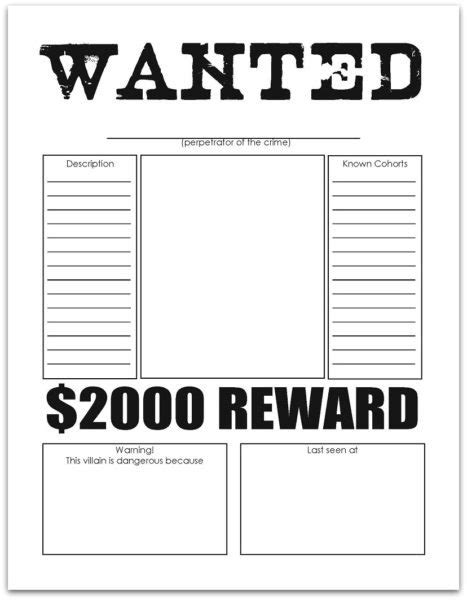 book report wanted poster template wanted poster worksheet page 2 the large and most