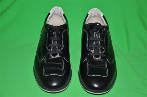 black and white leather rubber sole shoes at 1stdibs