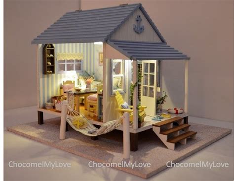 beach doll house miniature house kits woodworking projects plans