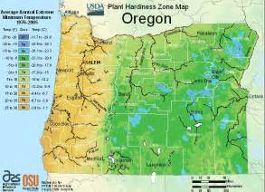 usda oregon growing zone for plants map