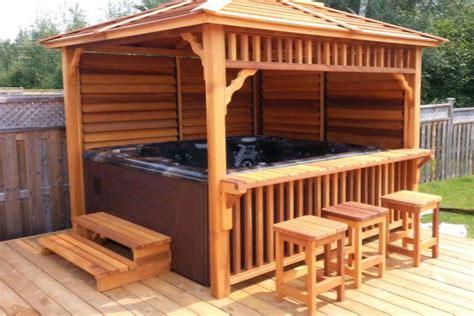 tubs gazebo ps wood arbor tub deck and bar search diy bar patio diy bar tubs tubs and