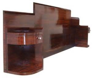 streamlined french art deco king size headboard with