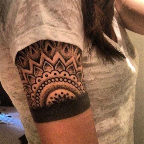 quarter sleeve tattoo black black ink dotwork tattoo on girl right half sleeve