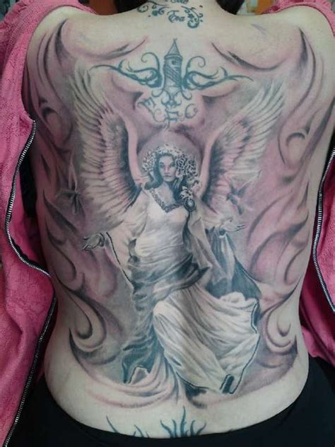 Guardian Tattoo Full Body | 54 angel tattoos on full back