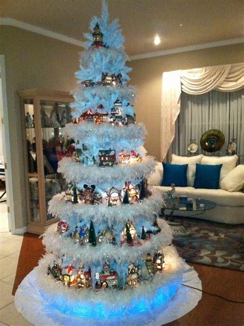 christmas village tree display pattern department 56 north pole tree christmas pinterest