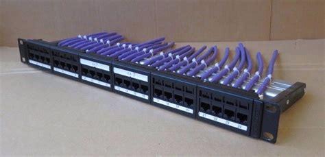cat6 rack mount patch panel hellermann tyton 24 port cat6 unshielded patch panel 19