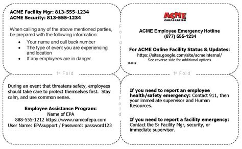 Crisis Card Template crisis communication is a key business continuity
