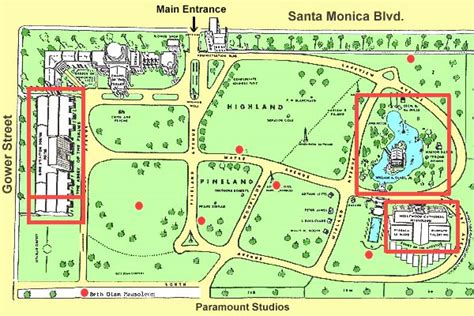 hollywood celebrities map map of stars graves at hollywood memorial park
