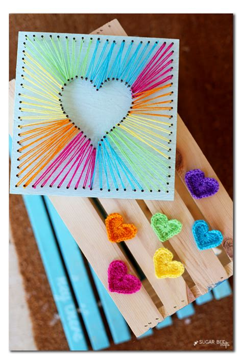 string crafts string string tutorials rainbow crochet