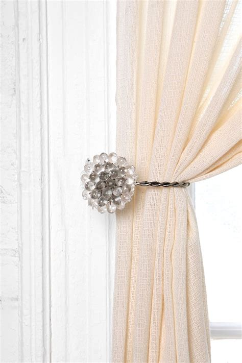 drapery tie back antique brooch curtain tie back urban outfitters