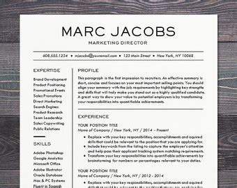 Cv Sjabloon Apple resume template cv template for word mac or pc