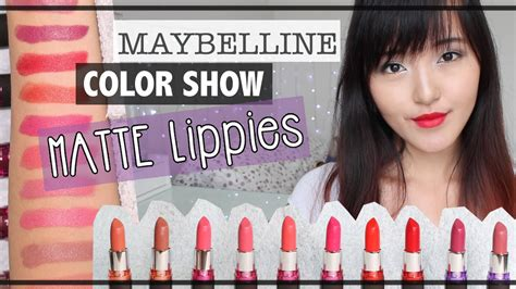 Maybelline Indonesia maybelline color show matte lipstick review