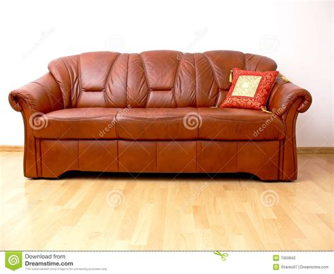Orient Sofa by Brown Sofa With Orient Pillow Stock Photo Image Of
