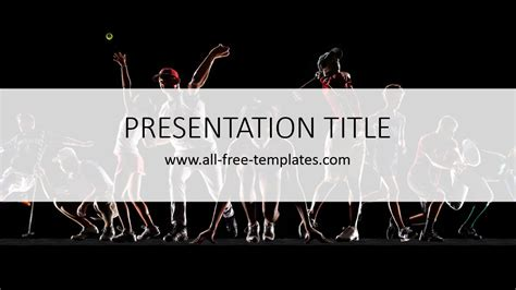 sport powerpoint template all free templates