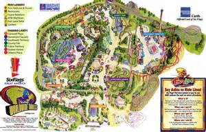 us map of six flags theme park brochures six flags great america theme park