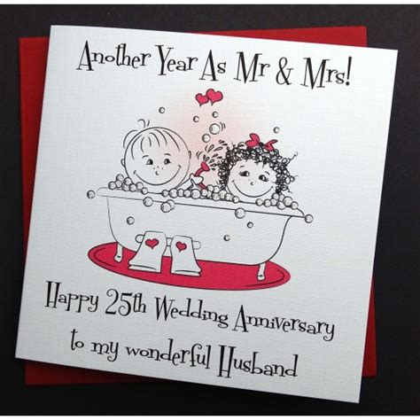 Handmade Anniversary Cards For Husband - handmade wedding anniversary card