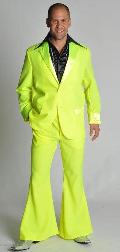 men s seventies suit yellow