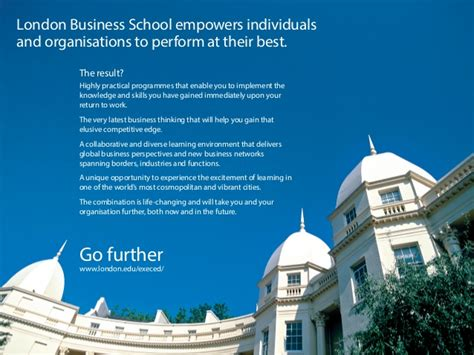 Lbs Mba Calendar by Business School S Executive Education Portfolio