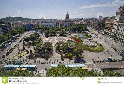 barcelona catalunya placa catalunya barcelon editorial photo image of summer