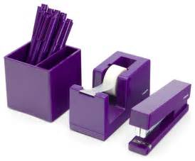 Desk Set Accessories Purple Starter Set Modern Desk Accessories By Poppin