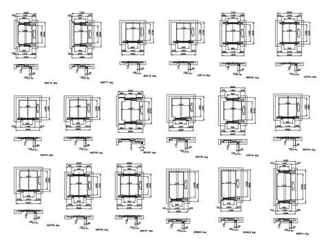 elevator  architectural autocad drawingsblocks