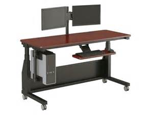 Office Desk With Wheels Desk On Wheels Officeenvy