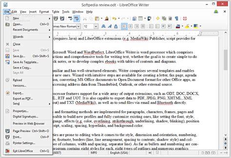 writer layout xml libreoffice writer review