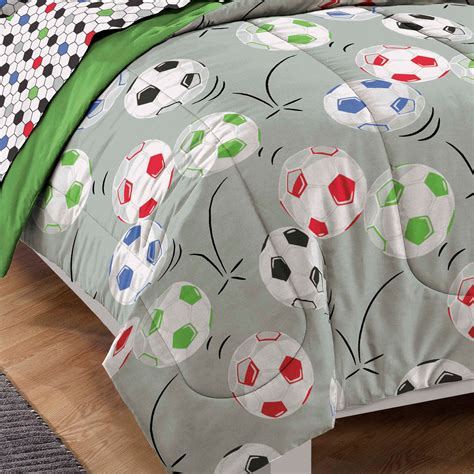 soccer balls twin bedding set 5pc comforter sheets