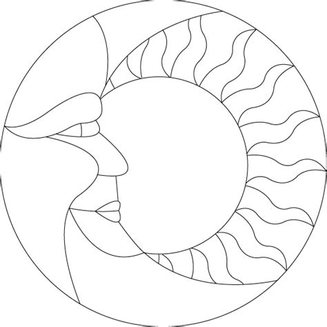 free coloring pages of sun stained glass