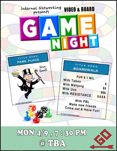 game night flyer game night party pinterest night