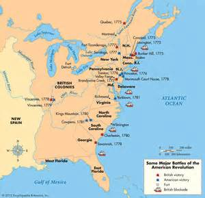 revolution map the revolutionary war assigment
