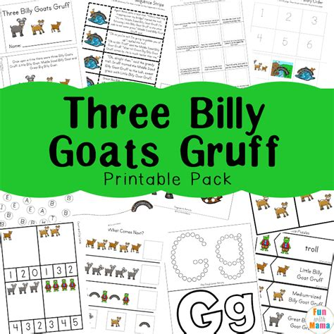 printable version of the three billy goats gruff three billy goats gruff activities fun with mama