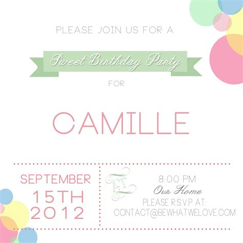 doc 501387 birthday party invitation templates ukrobstep