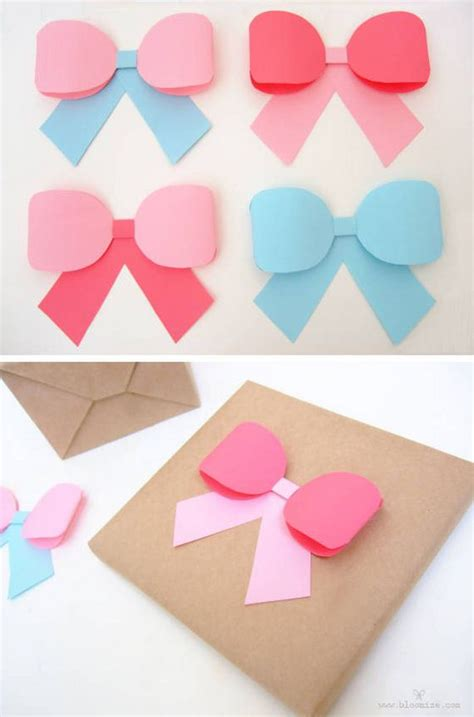 paper ribbon template diy gift bows tutorials