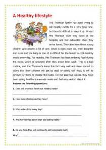 a healthy lifestyle worksheet free esl printable