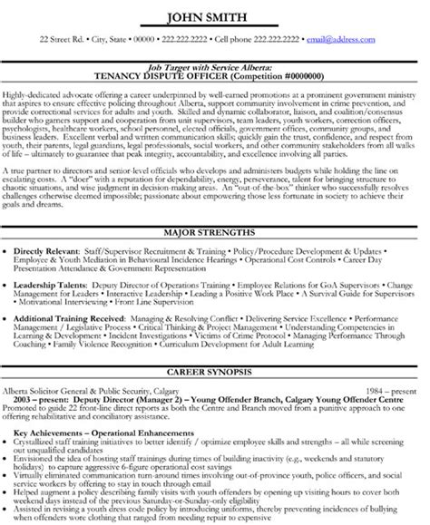 canadian government resume format top government resume templates sles